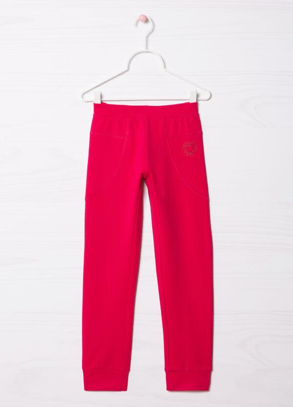 Pantaloni tuta stretch con strass | OVS