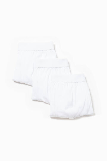 Three-pack solid colour stretch cotton boxer shorts