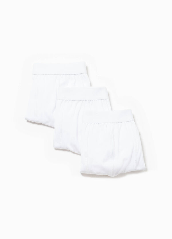 Three-pack solid colour stretch cotton boxer shorts | OVS