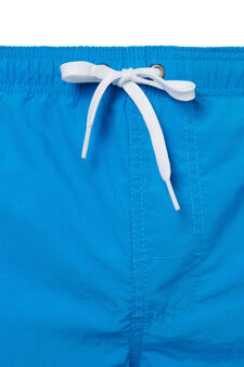 Swim boxer shorts with drawstring, Light Blue, hi-res
