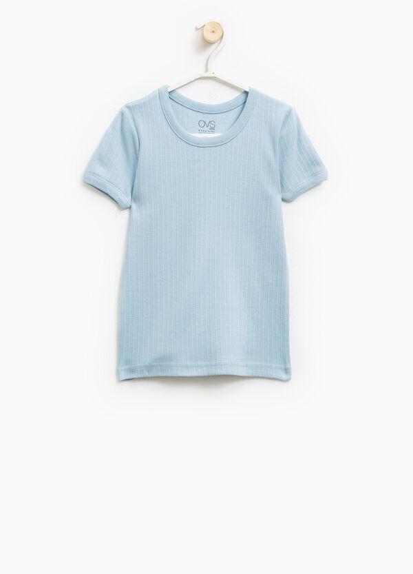 Camiseta interior en canalé de algodón 100% | OVS