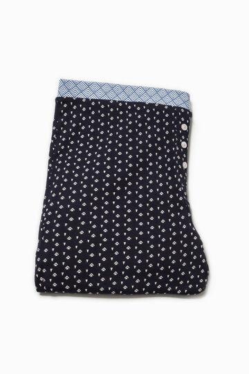 Patterned cotton pyjama trousers