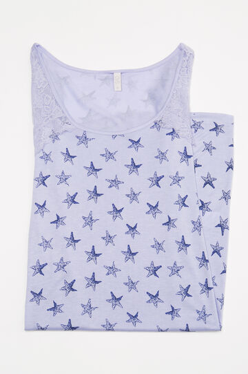 Nightshirt with lace inserts, Light Blue, hi-res
