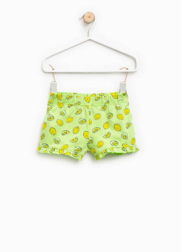 Shorts with flounce and all-over print   OVS