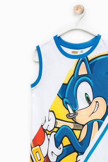 Canottiera in cotone stampa Sonic