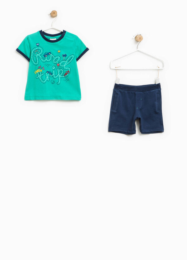 Printed T-shirt and Bermuda shorts set | OVS