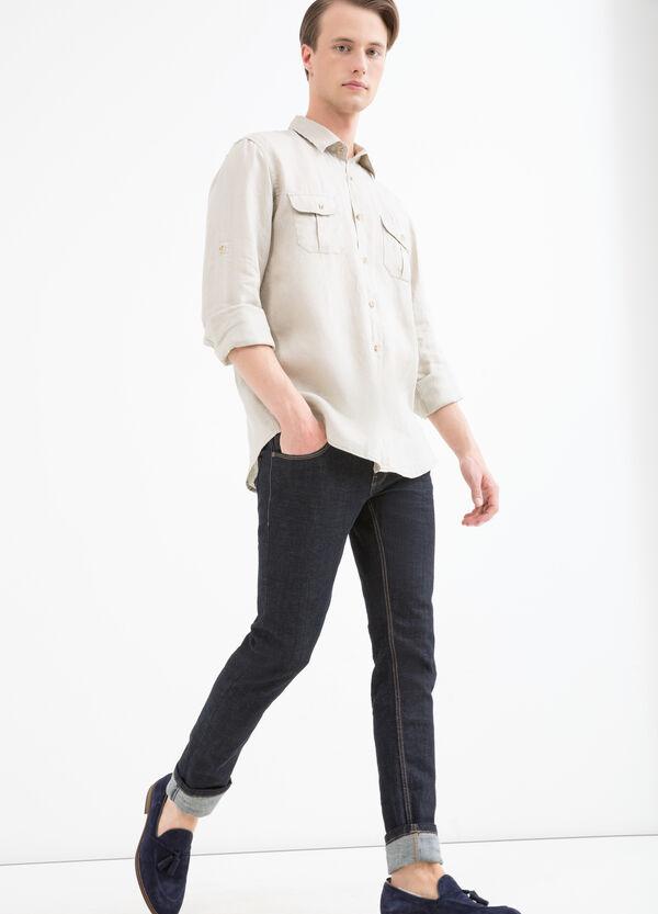 Camicia in puro lino taschini   OVS