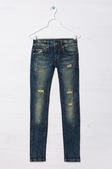 Jeans slim fit con strappi Blue Black