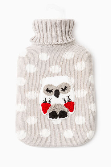 Hot water bottle with embroidery