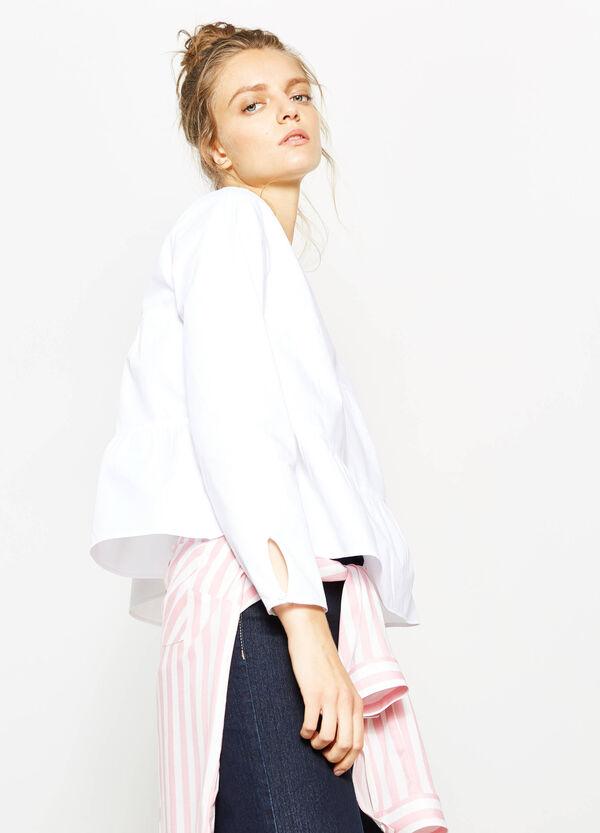 Solid colour 100% cotton blouse | OVS