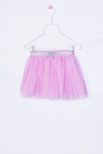 Solid colour tulle skirt with glitter, Pink, hi-res