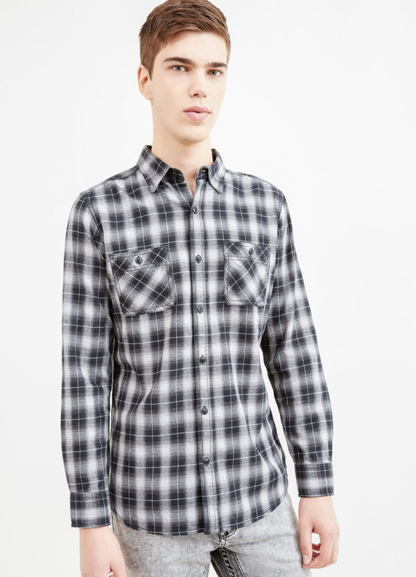 Casual slim-fit check shirt | OVS