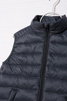 Quilted and padded jacket, Grey, hi-res
