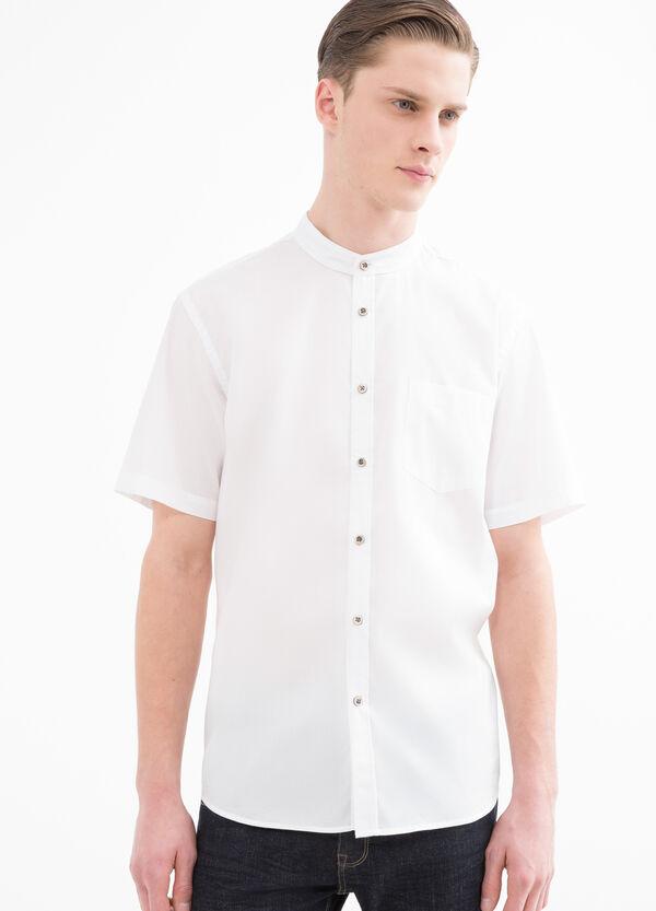 Camicia misto cotone alla coreana | OVS