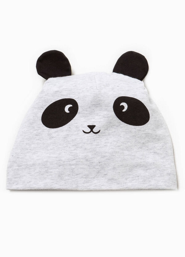 Beanie cap with ears and print | OVS