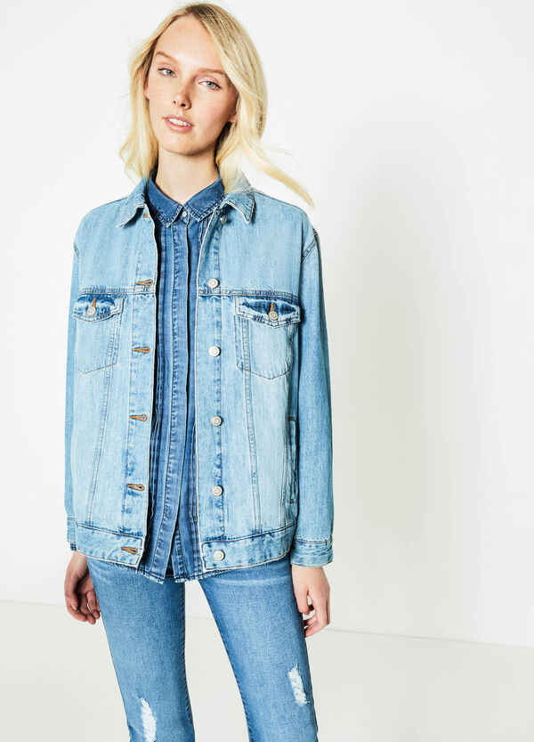 Denim jacket with breast pockets | OVS
