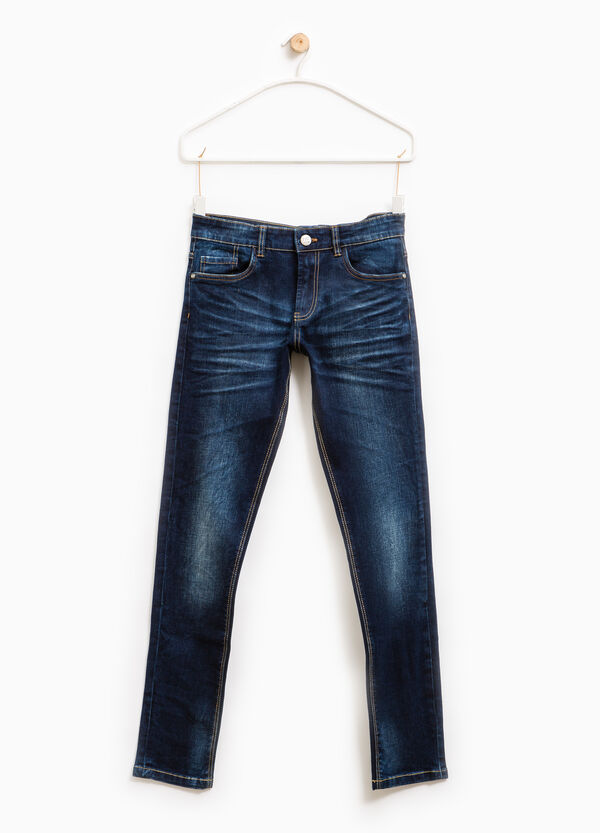 Used-effect slim-fit stretch jeans | OVS