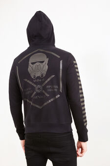 Cotton hoodie with Star Wars print, Blue, hi-res