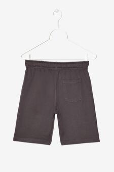 Pantaloni corti con stampa, Grigio antracite, hi-res