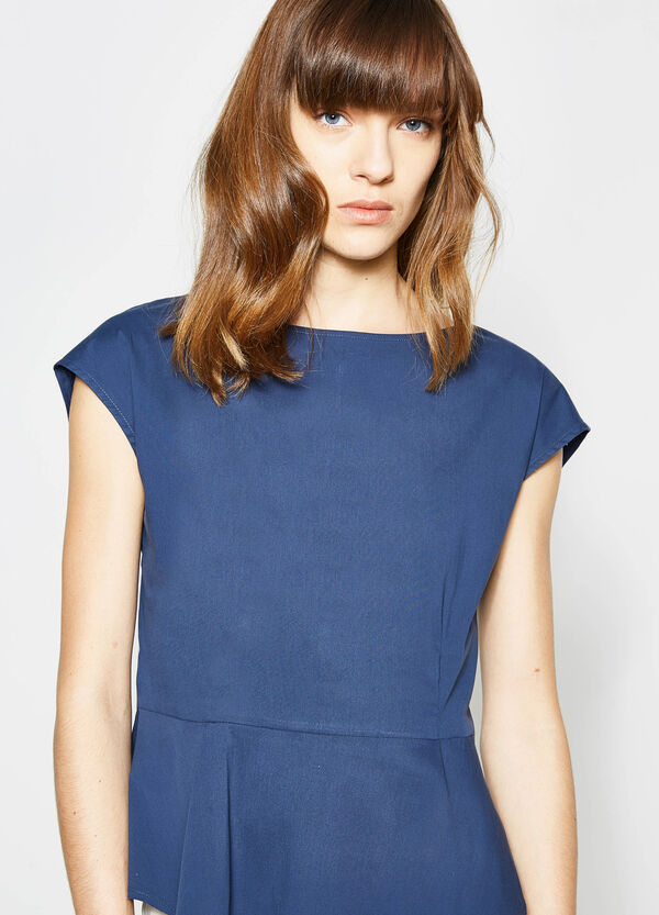 Blouse with pleating and zip on the back   OVS