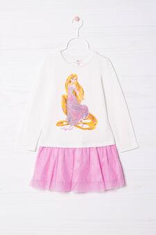 Dress with Rapunzel print, Milky White, hi-res