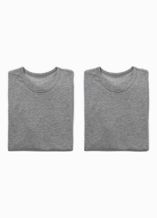 Pack de dos camisetas interiores con cuello redondo | OVS