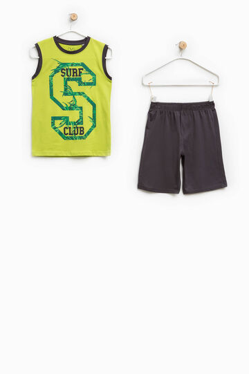 Outfit with printed lettering
