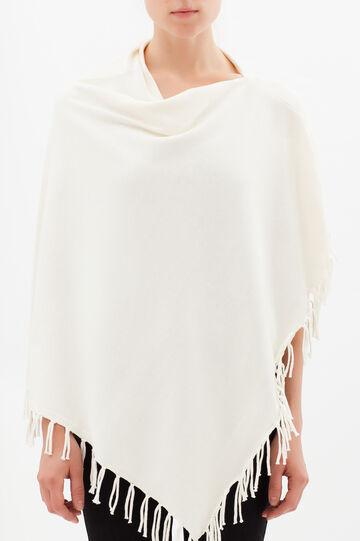 Plain poncho, Milky White, hi-res