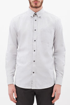 Shirt in 100% cotton viyella, Grey, hi-res