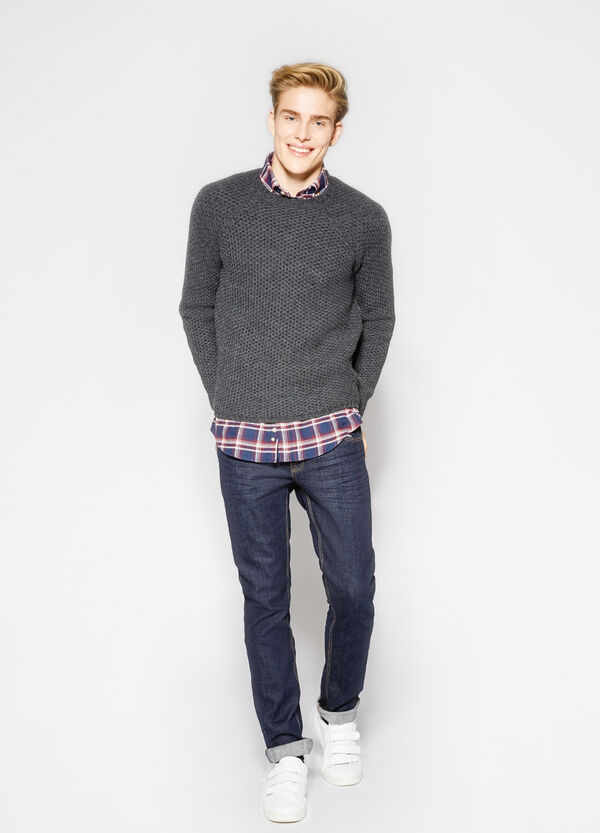 Wool blend knitted pullover | OVS