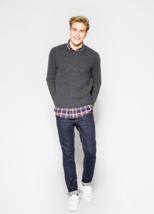 Pullover misto lana lavorato tricot | OVS
