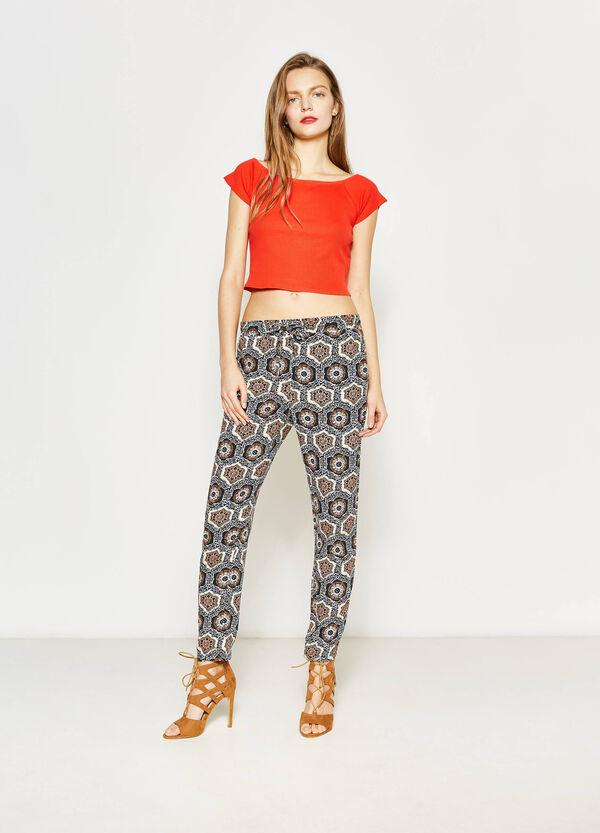 Pantaloni in viscosa stampa etnica | OVS