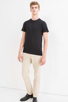 Pantaloni chino regular fit puro cotone, Beige, hi-res