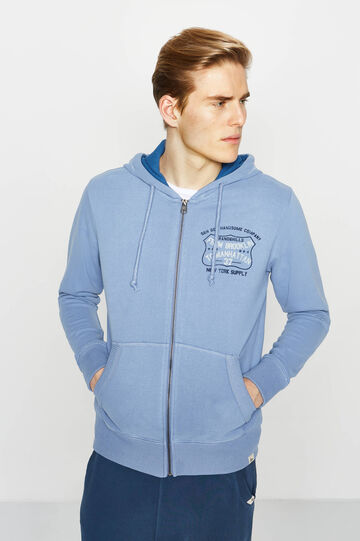 G&H sweatshirt with lettering print on chest, Soft Blue, hi-res