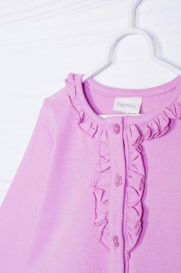 T-shirt stretch tinta unita, Viola lilla, hi-res