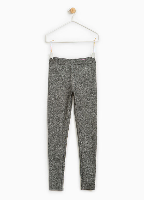 Glitter trousers in 100% cotton | OVS
