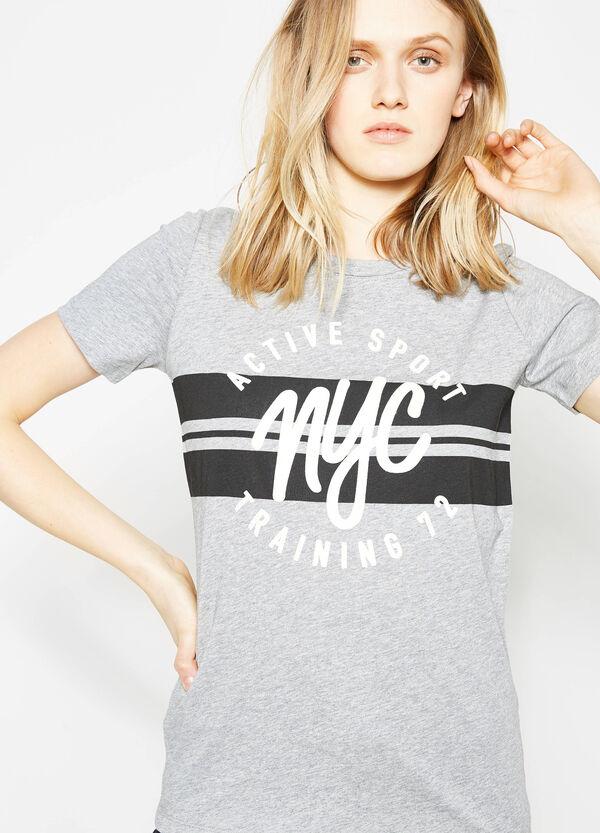 Camiseta en algodón 100% con estampado. | OVS
