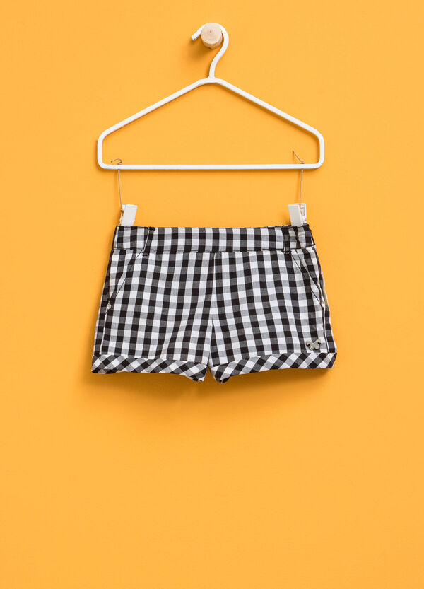 Checked shorts with butterfly patch | OVS
