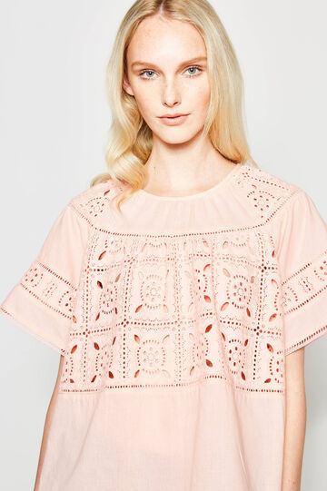 Blouse with openwork design