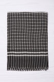 Patterned scarf in 100% cotton, Black, hi-res