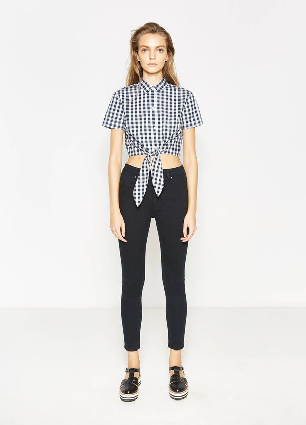 Pantaloni a vita alta cotone stretch | OVS