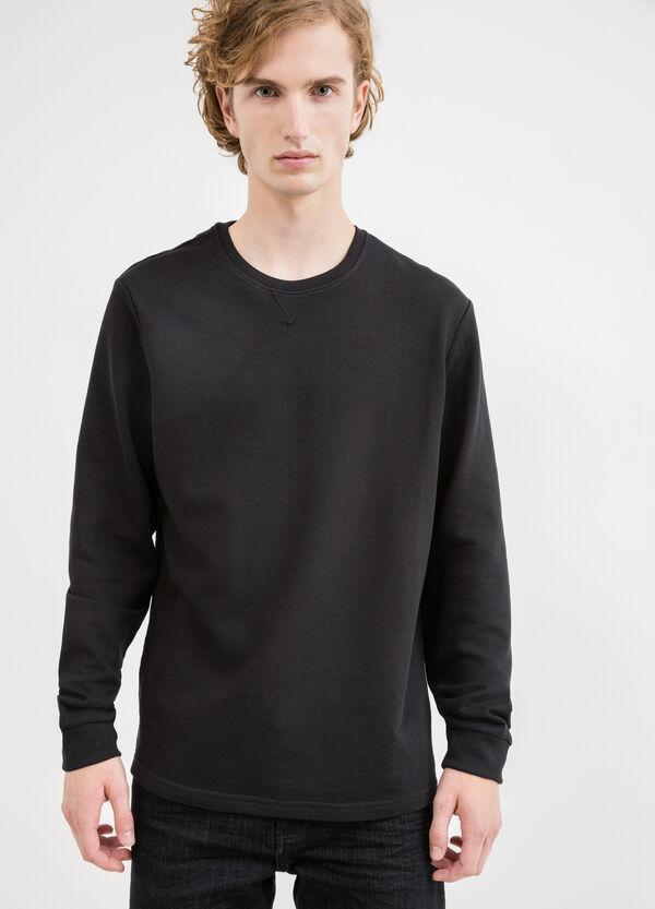 100% cotton sweatshirt with round collar and ribbing | OVS