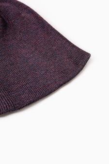 Cappello a cuffia lavorato tricot, Blu, hi-res
