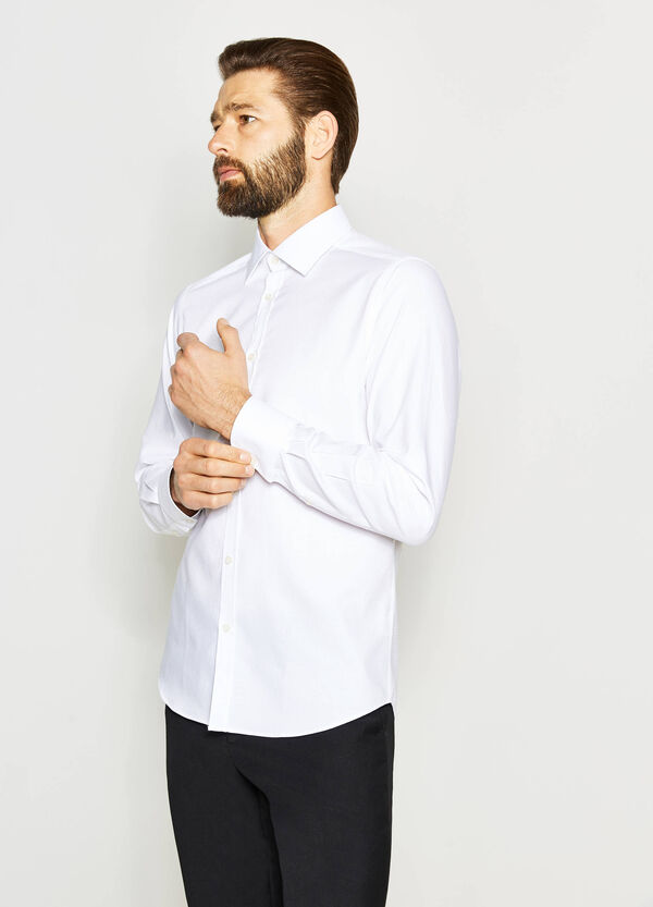 Camisa formal slim fit en algodón 100% | OVS