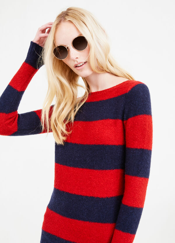 Pullover misto mohair stretch a righe | OVS