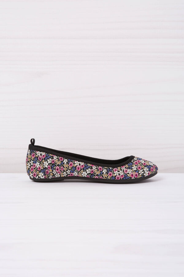 Ballerina flats with floral pattern | OVS