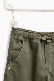 100% cotton joggers with drawstring, Olive Green, hi-res