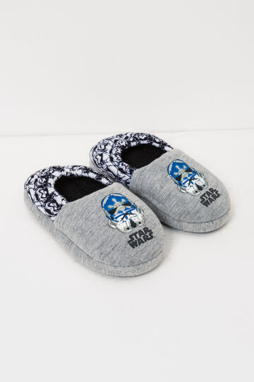 Canvas slippers with Star Wars print, Grey, hi-res