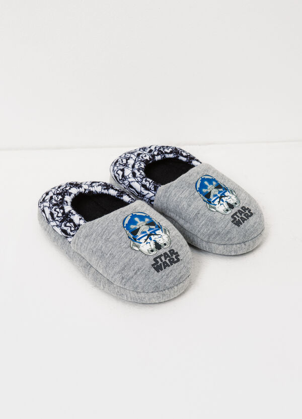 Canvas slippers with Star Wars print | OVS