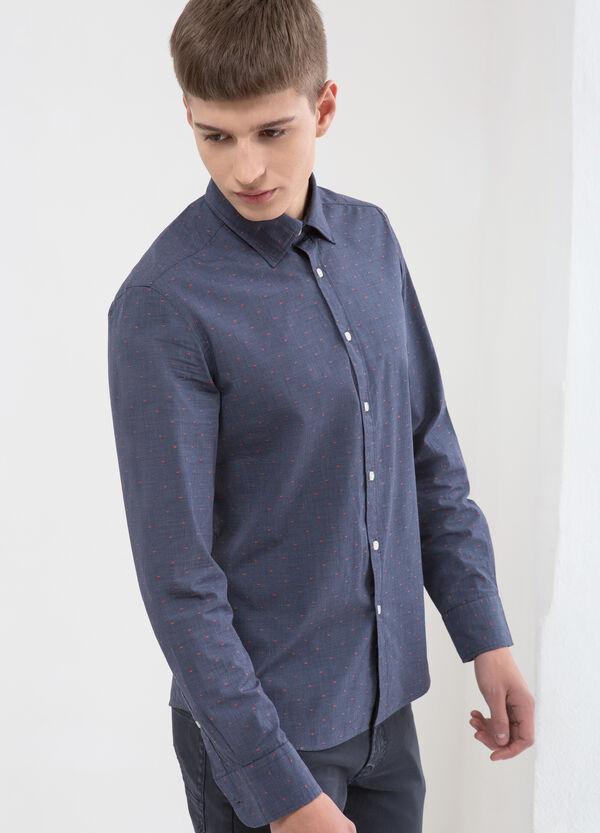 Camicia puro cotone micro quadri | OVS